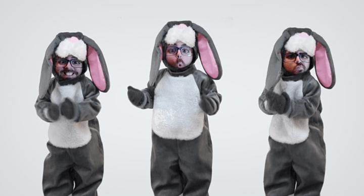 Cómo poner nuestra cara en un vídeo de un conejo bailando