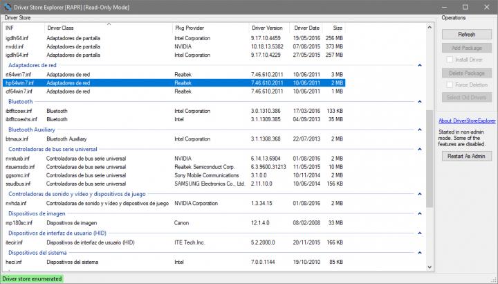 Imagen - Driver Store Explorer enumera, gestiona y elimina tus drivers en Windows