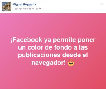 Imagen - Facebook ya permite poner color de fondo a las publicaciones desde el navegador