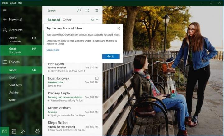 Imagen - Windows 10 mejora la gestión de Gmail