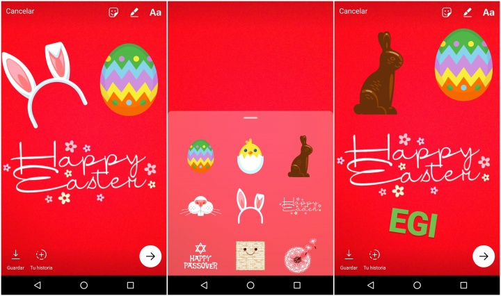 Imagen - Instagram añade nuevos stickers para la Pascua
