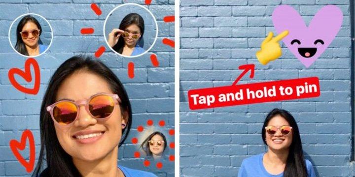 Nuevos stickers de Instagram ponen selfies en tus selfies
