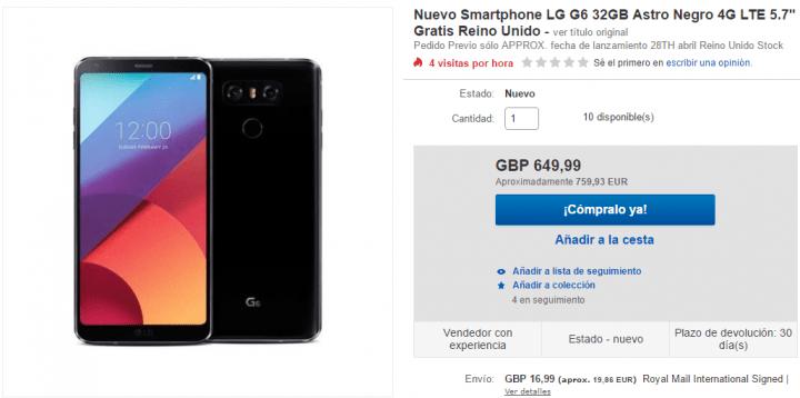 Imagen - Dónde comprar el LG G6