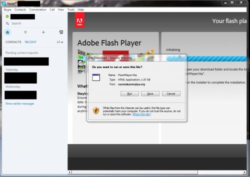 Imagen - Skype distribuyó malware como falsas actualizaciones de Flash