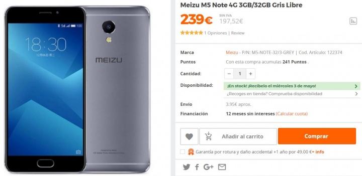 Imagen - Dónde comprar el Meizu M5 Note