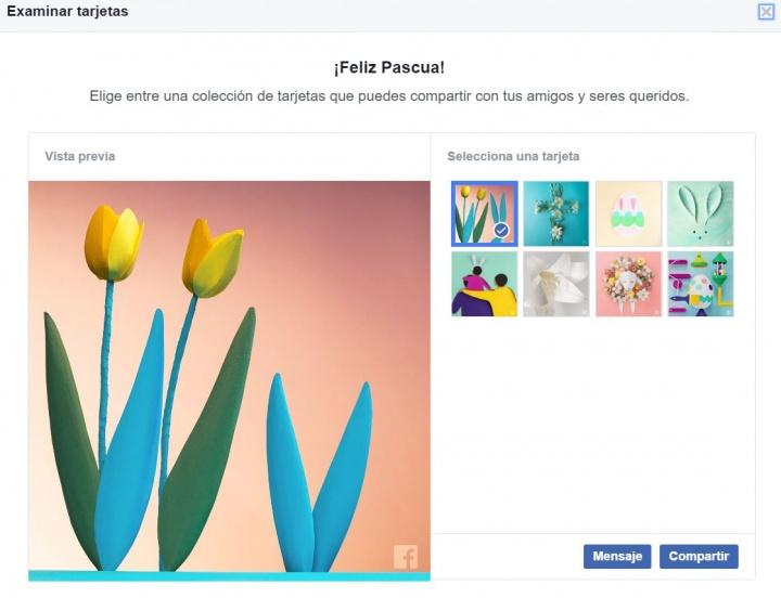 Imagen - Felicita la Pascua en Facebook con las tarjetas personalizadas