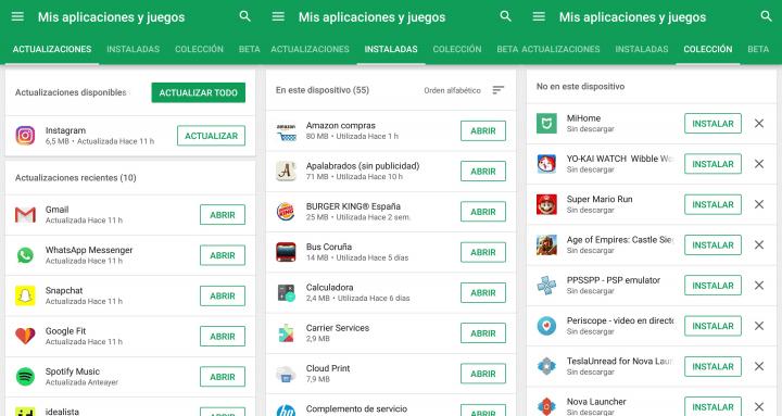 Imagen - Google Play actualiza la pestaña de Actualizaciones