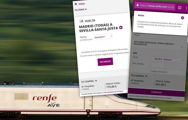 Imagen - La web de RENFE vuelve a fallar con los billetes de AVE a 25 euros