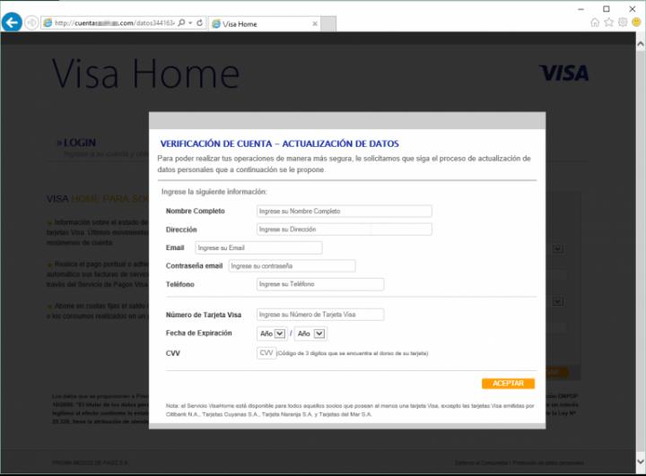 Imagen - Cuidado con el falso correo de Visa