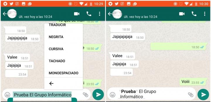Imagen - Cómo poner negritas y cursivas en WhatsApp