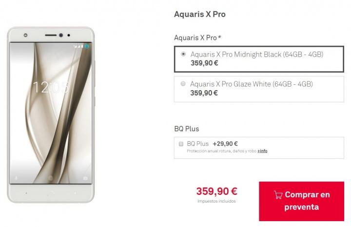 Imagen - BQ Aquaris X Pro ya está en preventa desde 359,90 euros