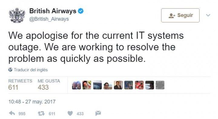 Imagen - British Airways con problemas en su sistema informático