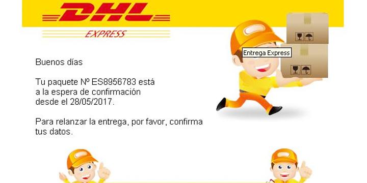 Cuidado con el falso correo de DHL