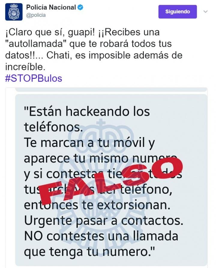 Imagen - Cuidado con el mensaje que afirma que recibirás una autollamada para robarte los datos