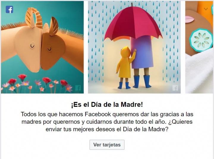 Imagen - Felicita el Día de la Madre en Facebook con las tarjetas personalizadas