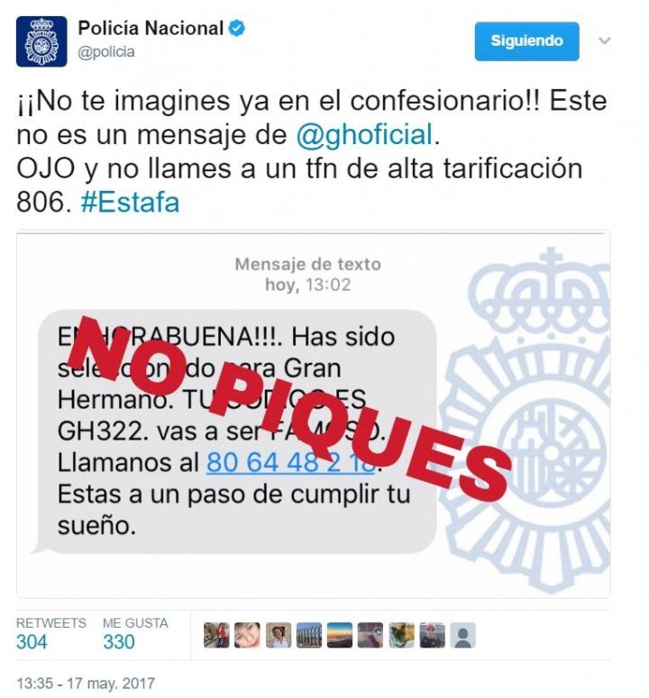 Imagen - Circula un falso SMS que asegura que has sido seleccionado para Gran Hermano