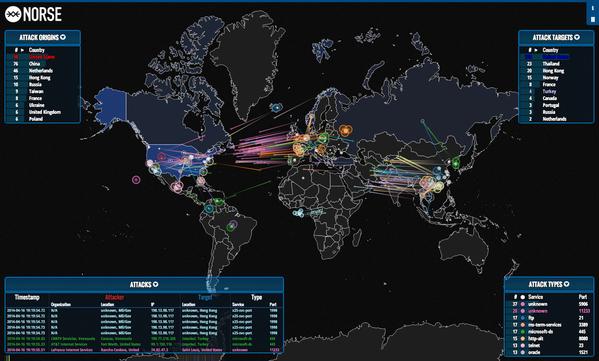 Imagen - Conoce los ataques informáticos mundiales en un mapa en tiempo real