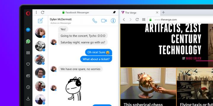Imagen - Opera integra WhatsApp, Facebook Messenger y Telegram