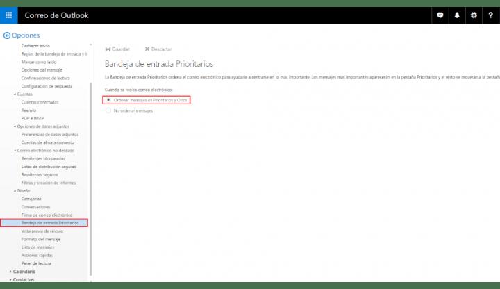 Imagen - Outlook añade una bandeja de prioritarios