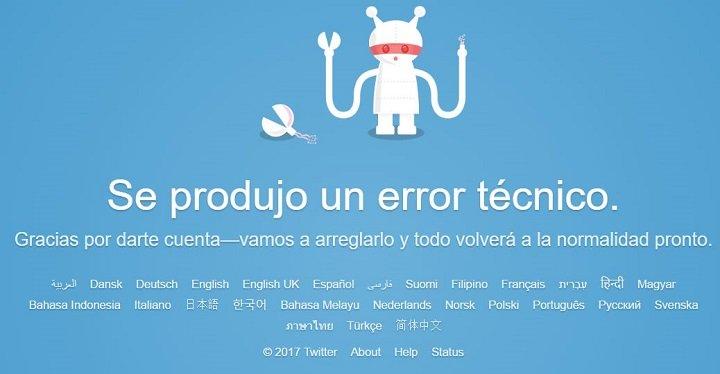 Imagen - Twitter no funciona correctamente
