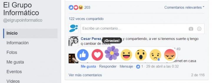 Imagen - Facebook añade una flor violeta como reacción por el Día de la Madre