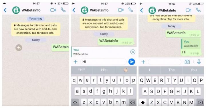 """Imagen - WhatsApp para iOS prepara una nueva función de """"respuesta rápida"""""""