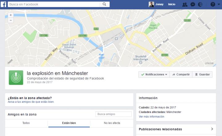 Imagen - Se activa el Safety Check de Facebook tras el atentado de Manchester