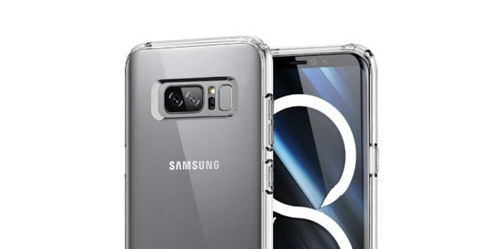 Filtrado el Galaxy Note 8 en una funda
