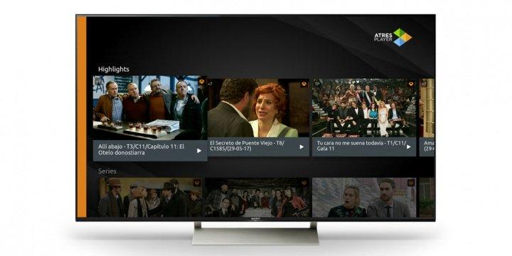 La nueva app Atresplayer llega a los televisores de Sony