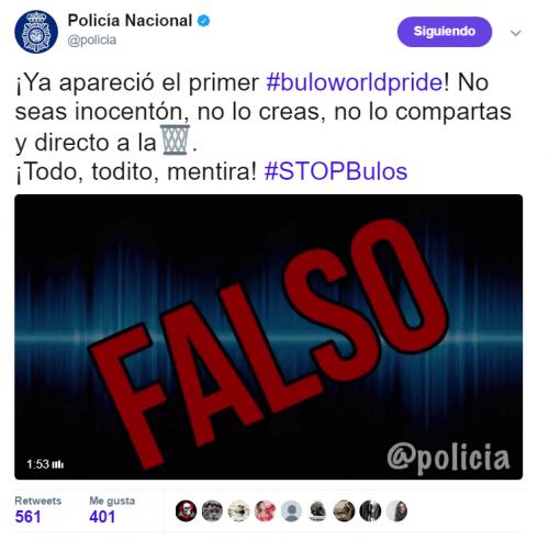 Imagen - Un audio de WhatsApp hace circular una falsa amenaza durante el Orgullo en Madrid