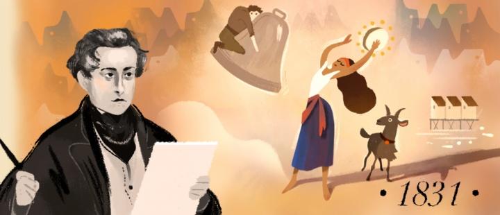 Imagen - Google dedica un Doodle a Victor Hugo por el 155 aniversario de Los Miserables