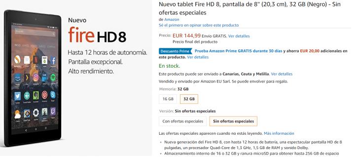 Imagen - Fire 7 y Fire HD 8, ya a la venta las nuevas tablets de Amazon desde 55 euros