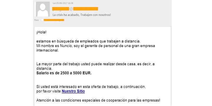 Imagen - Cuidado con las falsas ofertas de empleo y sus sueldos de 5.000 euros