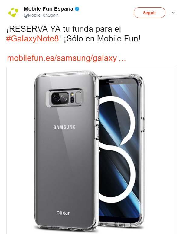 Imagen - Filtrado el Galaxy Note 8 en una funda
