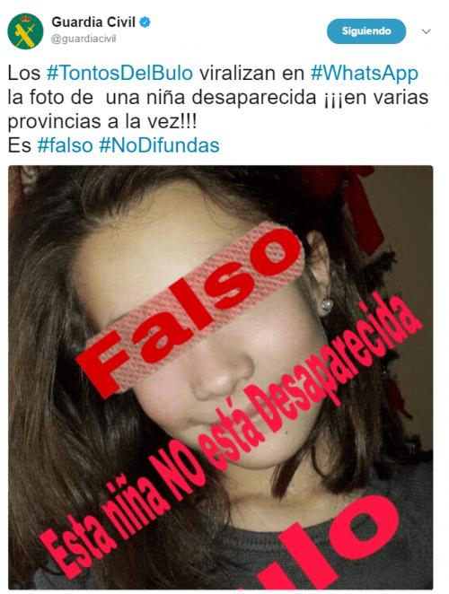 Imagen - Se viraliza en WhatsApp la foto de una niña desaparecida