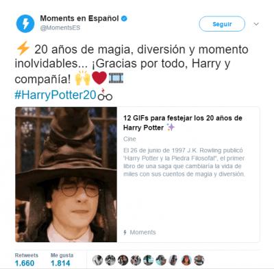 Imagen - Twitter añade un emoji especial para el 20 aniversario de Harry Potter