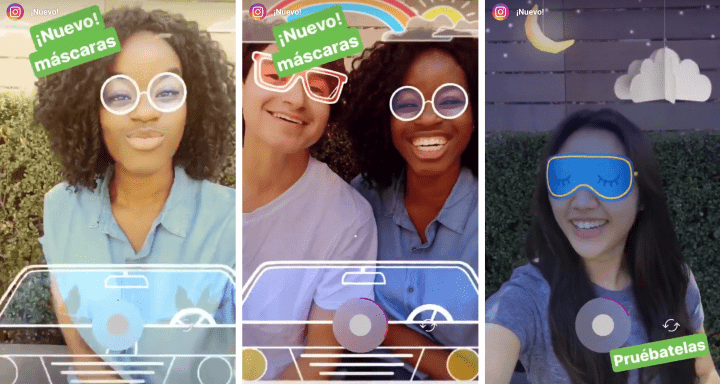 Instagram adds new masks