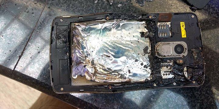 Un Lenovo K4 explota sin razón aparente