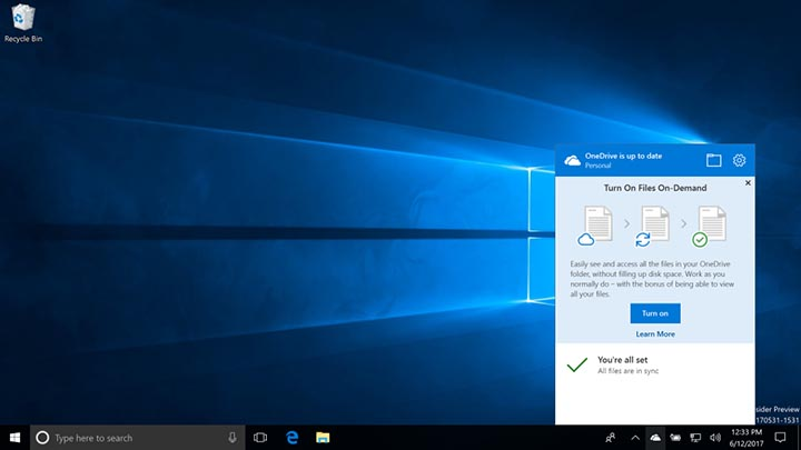 Imagen - OneDrive descargará archivos bajo demanda en Windows 10 Fall Creators Update