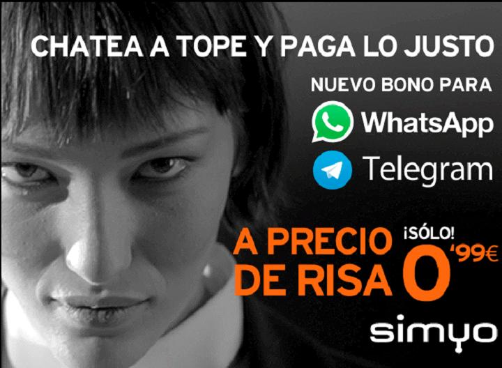 Imagen - Simyo lanza un bono para WhatsApp y Telegram