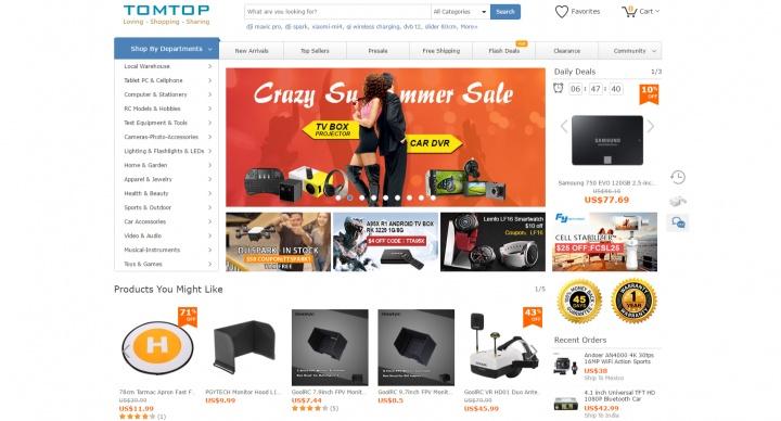 Imagen - Oferta: cupones descuento en TomTop para comprar tecnología a buen precio