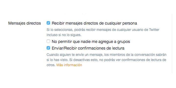 Imagen - Twitter cambia sobre los DMs recibidos de quien no seguimos