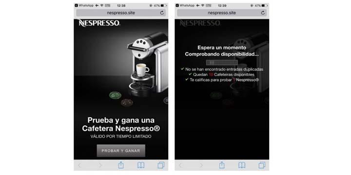 Imagen - Nespresso no está regalando cafeteras por WhatsApp, cuidado con esta nueva estafa