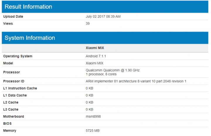 Imagen - Xiaomi Mi MIX 2 tendrá 6 GB de memoria RAM