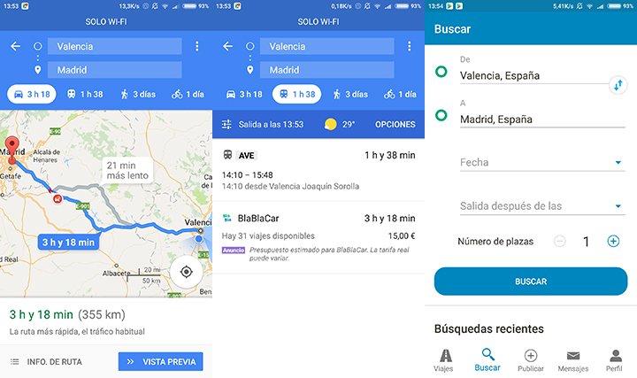 Imagen - BlaBlaCar se integra en Google Maps