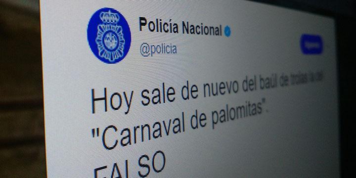 La Policía Nacional alcanza los 3 millones de seguidores en Twitter