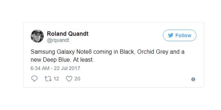 Imagen - Samsung Galaxy Note 8 podría llegar con nuevo color