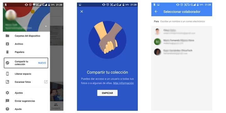 Imagen - Cómo compartir colecciones en Google Fotos con un amigo