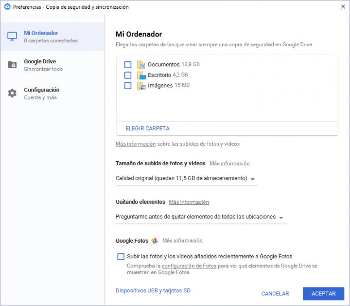 Imagen - Copia de seguridad y sincronización, la nueva app para hacer backups de tu PC en Drive