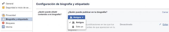 Imagen - Cómo evitar que publiquen en tu muro de Facebook